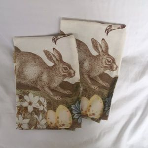 Williams Sonoma Happy Easter Bunny Tea Towels